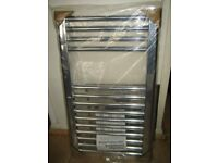 Chrome flat towel rail, 400 X 700 mm, brand new, still in the box, buyer collects.