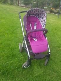 Mamas and papas purple pushchair