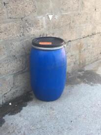 Plastics barrels