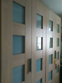 huge double bi-folding door wardrobe