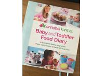 Annabel Karmel baby and toddler food diary