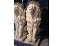 "A pair of proud lions 17"" tall £25"