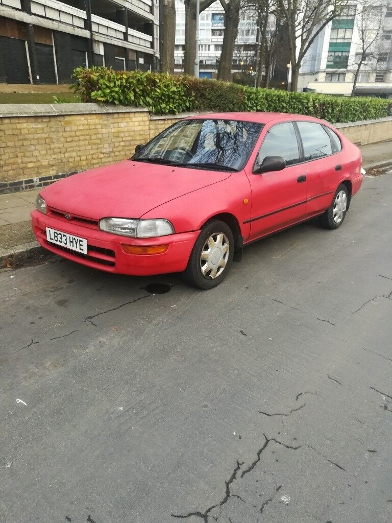 Toyota car petrol car Japanese car old shape Toyota corolla 5 door ...