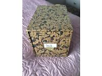 Wooden Box Full of Recipe Cards