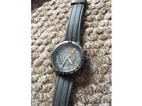 Timex men's t49860 adventure series tide temp compass gray silicone strap watch