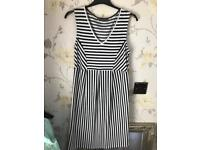 Mothercare blooming marvellous black and white striped maternity dress