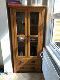 Harvey's wooden display cabinet unit