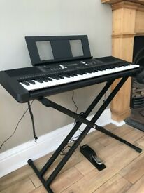 Yamaha electric keyboard for sale (LIKE NEW!) + PEDAL (NEW) + DURONIC STAND (NEW)