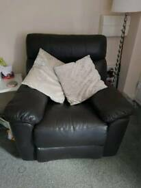 Full reclining sofa and chair
