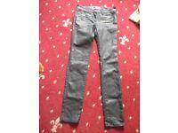 River Island Black Fashion Jeans Size 6L