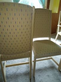 2 used dining chairs