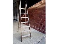 Wooden Step Ladder – Ideal for Decorating - 7 steps