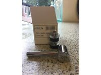 Pair of Hudson Reed Tec Lec bath tap levers in chrome