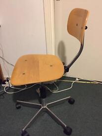 Fritz Hansen swivel wooden office chair