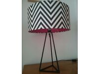 Black and white large table lamp