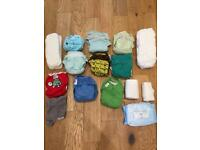 Washable nappies, fleece and bamboo liners and wipes