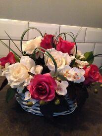 Artificial flower arrangement stunning centre piece