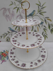 "Royal Albert ""Sweet Violets"" XL cake stand"