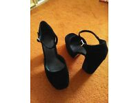SHOES, SIZE 6, BLACK PLATFORMS, ASOS