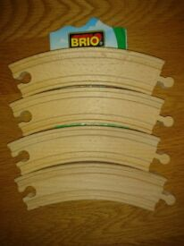 Brio 33342 Curved Track Long x 4 Extension Pack As New Condition