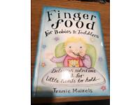 Finger food for babies and toddlers hardback book