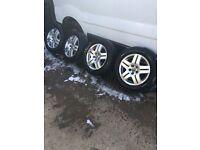 "Genuine Volkswagen Avus Style Golf Beetle Bora X4 Alloy wheels and tyres 15"""