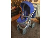 Boys Blue Pram Unit