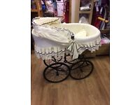 Baby's vintage style crib on wheels stunning