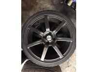 """17"""" team dynamic alloy wheels with tires"""