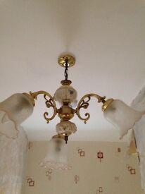 Ornate light fitting