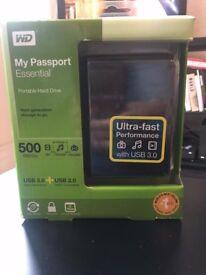 WD My Passport Portable External Hard Drive 500GB