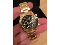 Gold Rolex watch Daytona , 40mm NEW, black face