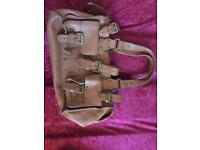 Real Leather handbag brown
