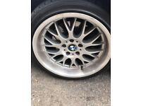 BBS. 18 inch 4 like new tyres £.600