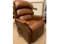 HSL Linton Dual Motor Standard Size Leather Rise & Recline Chair Riser Recliner lift to standing