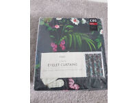 New from Next Twilight Garden Floral Print Curtains 168x183cm