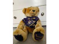 Harrods Traditional Christmas Bear 2000