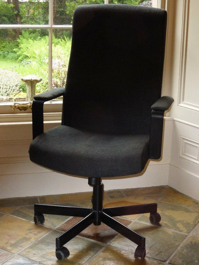 ikea malkolm office swivel chair with adjustable tilt feature in