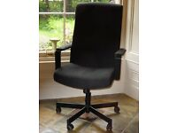 IKEA 'MALKOLM' OFFICE SWIVEL CHAIR WITH ADJUSTABLE TILT FEATURE