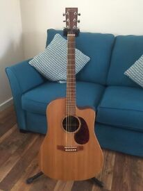 Martin DCX1E Guitar For Sale With an optional hard carry case.