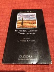 BOOK/LIBRO Soledades. Galerias. Otros poemas by Antonio Machado