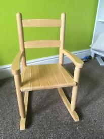 Children's small rocking chair