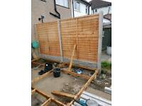 Garden fencing and decking