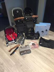 Option 2. Bugaboo Donkey Duo/mono with maxi cosi car seat and adapter plus other extras