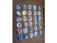Collection 30 hanging plates, aircraft themes,Doulton,Wedgwood etc, ideal for club/collectors,mint!