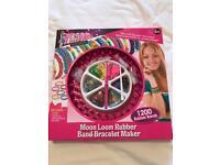 Moon loom rubber band bracelet maker