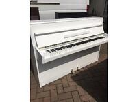 Fuchs & Mohr white upright piano |Belfast Pianos | free delivery |