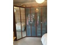 Wardrobes for Sale, PAX Ikea, Mirrored and Glass door 5 units in total bought