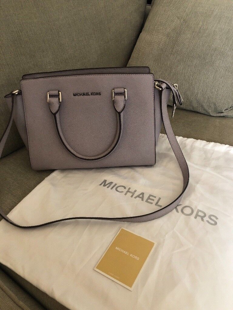 Michael Kors Selma Bag Purse With Dust And Care Card