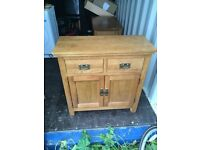 Solid oak side cabinet /unit / sideboard £100